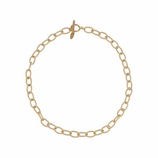 By Shir Ketting chain edelstaal 14k verguld