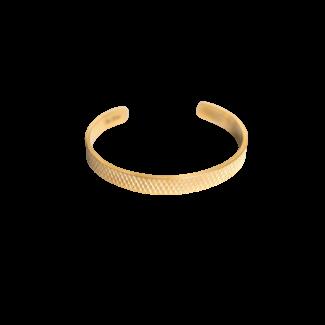 By Shir Heren armband 14k verguld cuff
