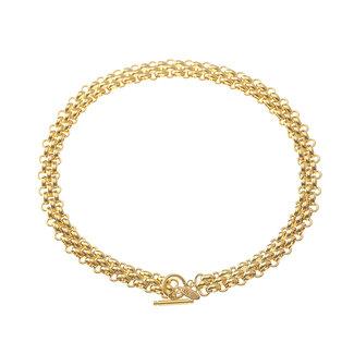 By Shir Ketting luxe Fleur edelstaal 14k goud