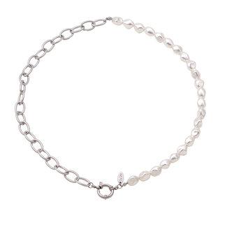 By Shir Ketting parels en chain met luxe sluiting edelstaal