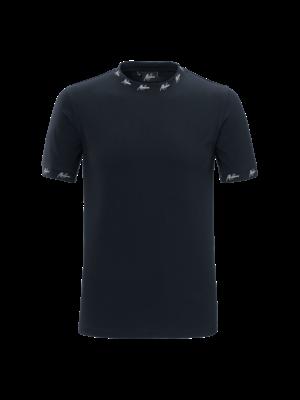 Malelions T-shirt Georginio - Navy/White