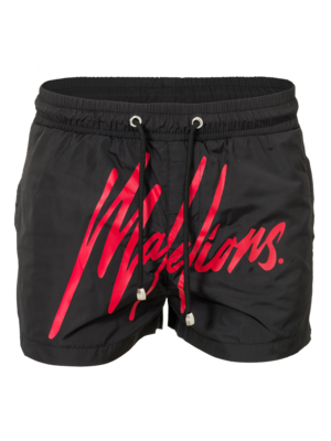 Malelions Swimshort Signature Black/Red
