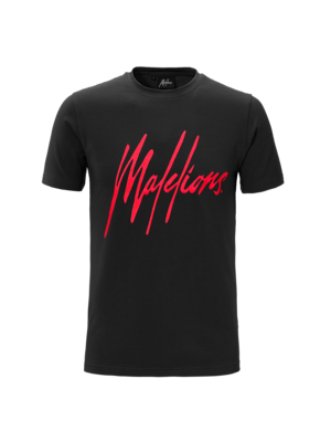 Malelions T-shirt Signature Black/Red