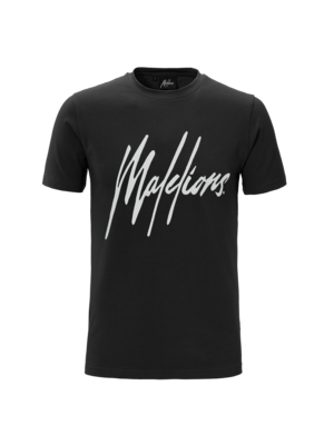 Malelions T-shirt Signature Black/White