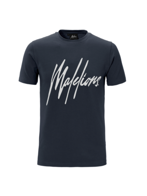 Malelions T-shirt Signature Navy/White
