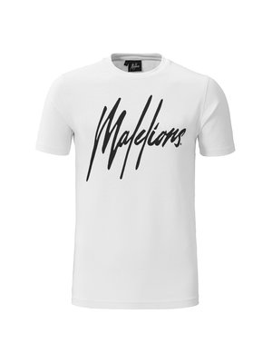 Malelions T-shirt Signature White/Black