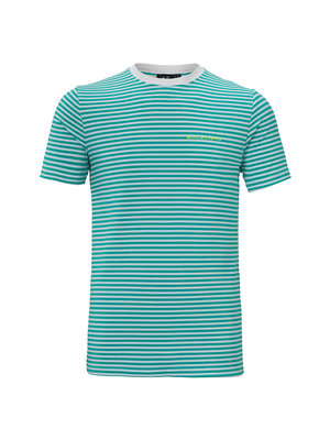 Malelions T-shirt Striped Giovanni - Turquoise