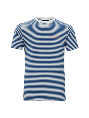 Malelions T-shirt Striped Giovanni - Navy
