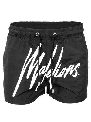 Malelions Swimshort Signature Black/White