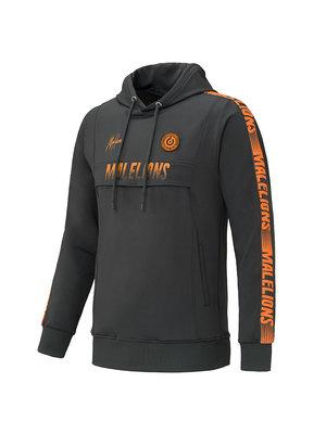 Malelions Sport Hoodie Warming Up - Antra/Orange
