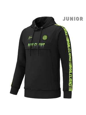 Malelions Junior Junior Sport Hoodie Warming Up - Black/Yellow