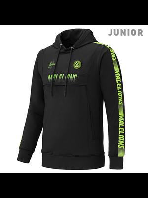 Malelions Junior Sport Hoodie Warming Up - Black/Yellow