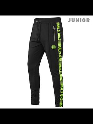 Malelions Junior Sport Pants Warming Up - Black/Yellow