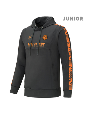 Malelions Junior Junior Sport Hoodie Warming Up - Antra/Orange