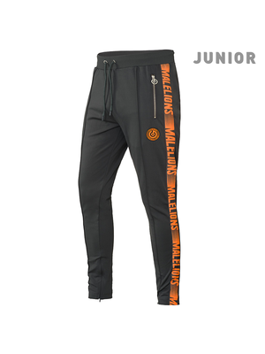 Malelions Junior Junior Sport Pants Warming Up - Antra/Orange