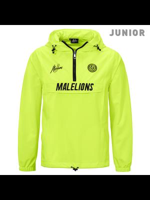 Malelions Junior Sport Windbreaker - Neon Yellow | PRE-ORDER