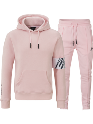 Malelions Tracksuit Captain Combi Pink/White
