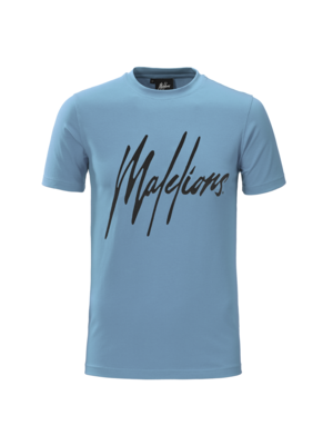 Malelions T-shirt Signature Blue/Black