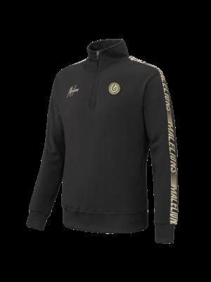 Malelions Sport Sport Sweater Quaterzip - Black/Gold
