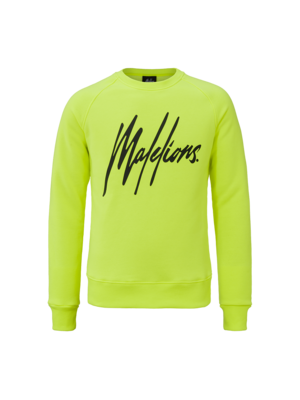 Malelions Crewneck Signature - Neon Yellow