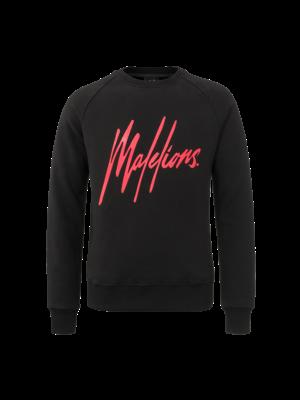 Malelions Crewneck Signature - Black/Red