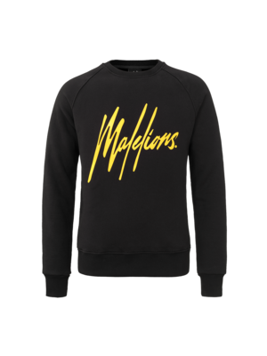 Malelions Crewneck Signature - Black/Yellow