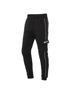 Malelions Trackpants Cursief Reflective - Black