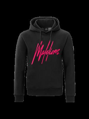 Malelions Hoodie Signature - Black Neon/Pink
