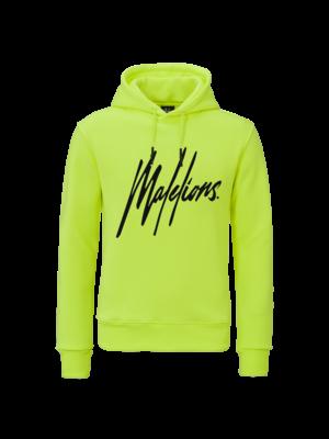 Malelions Hoodie Signature - Neon Yellow