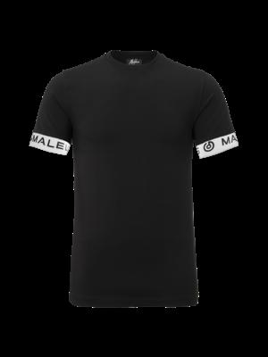 Malelions T-Shirt One Tape - Black/White | PRE-ORDER