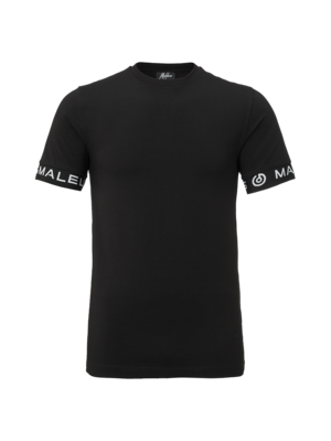 Malelions T-Shirt One Tape - Black/Black | PRE-ORDER