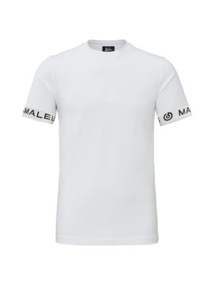 Malelions T-Shirt One Tape - White/Black