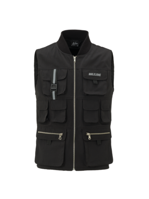 Malelions Tactical Vest Cursief Reflective - Black