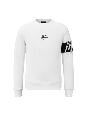 Malelions Crewneck Captain - White/Black