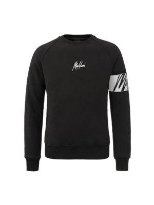 Malelions Crewneck Captain - Black/White