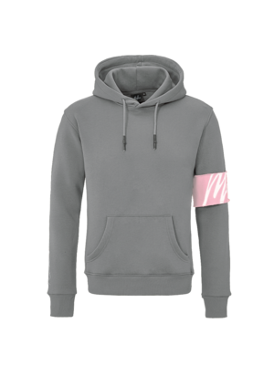 Malelions Captain Hoodie - Matte Grey/Pink