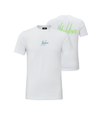 Malelions T-shirt Double Signature - White