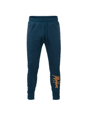 Malelions Signature Trackpants - Navy/Orange