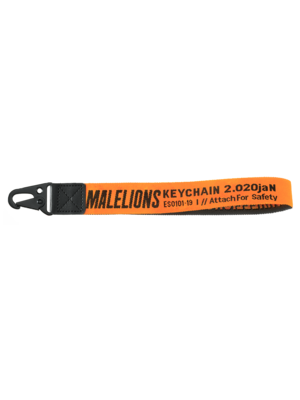 Malelions Keychain - Orange/Black