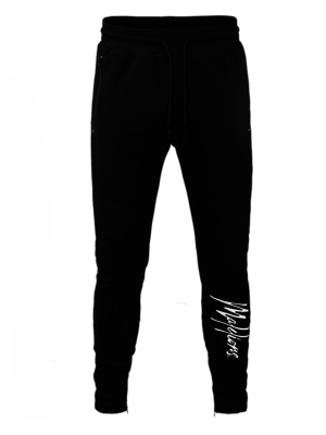 Malelions Signature trackpants - Black/White