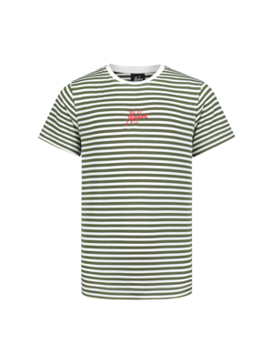Malelions Junior Junior T-shirt Striped - Army