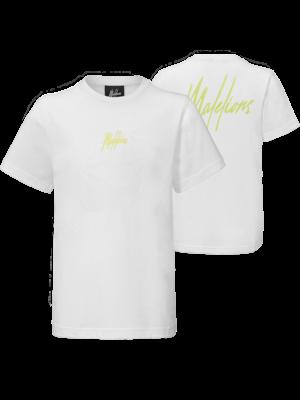 Malelions Junior Junior T-shirt Small Signature - White