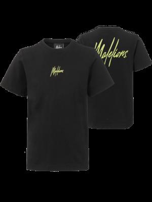 Malelions Junior Junior T-shirt Small Signature - Black