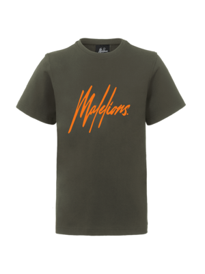 Malelions Junior Junior T-shirt Signature - Army