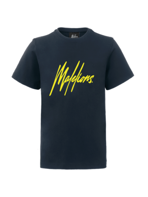 Malelions Junior Junior T-shirt Signature - Navy