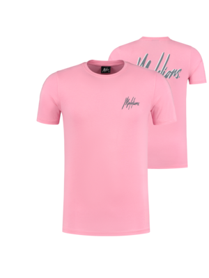 Malelions T-shirt Signature 2.0 - Pink/Matt Grey
