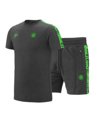 Malelions Sport Twinset Home kit Sport - Light Antra/green