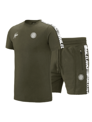 Malelions Sport Twinset Home kit Sport - Army/White