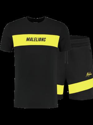 Malelions Sport Twinset Uraenium Sport - Black/Yellow