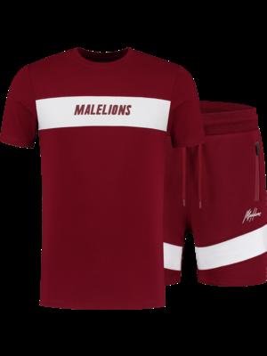 Malelions Sport Twinset Uraenium Sport - Bordeaux/White